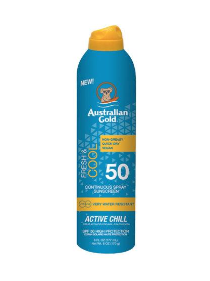 australian gold active chill sunscreen spray