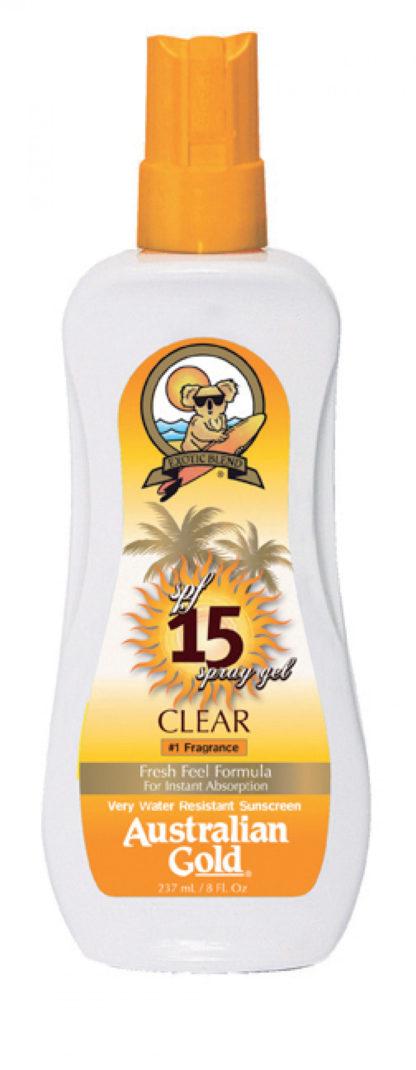 australian gold spf15 clear spray