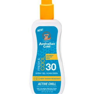 australian gold spray gel active chill spf30